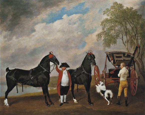 George Stubbs, Der Phaeton des Prinzen von Wales mit dem Kutscher Samuel Thomas,