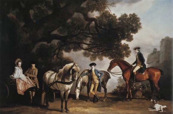 George Stubbs, Die Familien Milbanke und Melbourne, um 1769