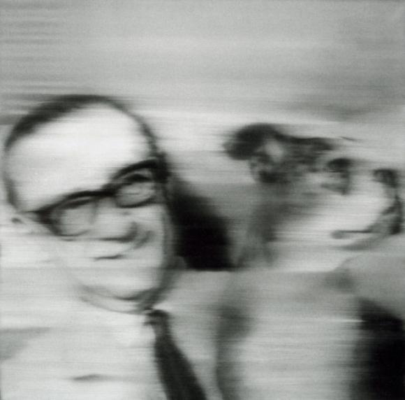 Gerhard Richter, Sammler mit Hund, 1966