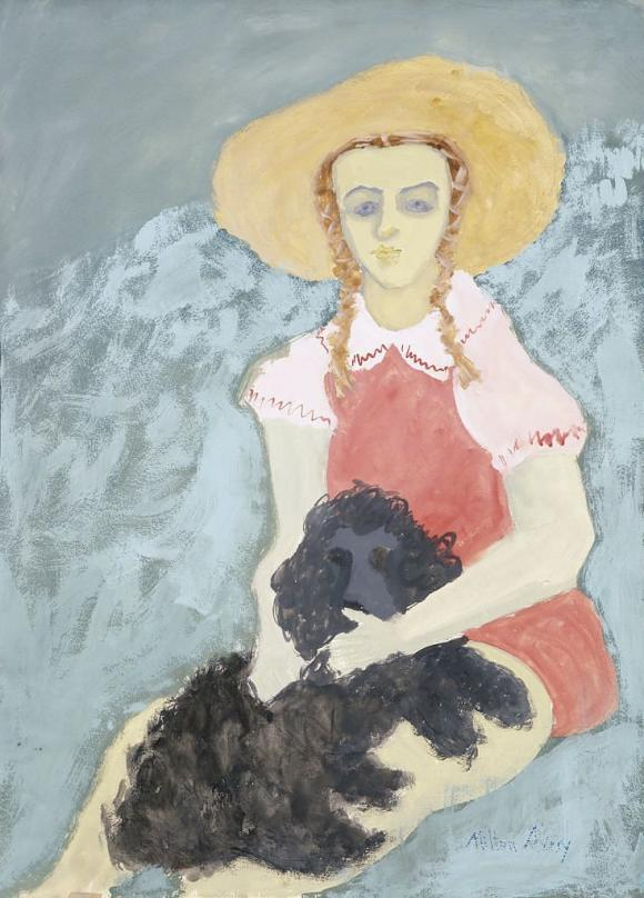 Milton Avery, Girl and Dog, 1942-43 © Hirshhorn Museum and Sculpture Garden, Smi