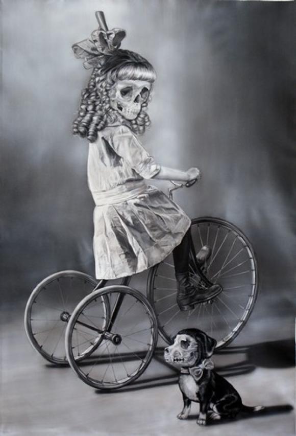 Girl on bike, 2009 © Zoe Byland