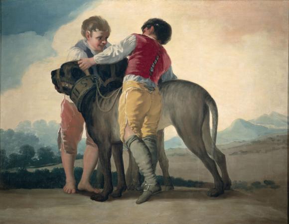 Francisco de Goya, Buben mit Mastiff