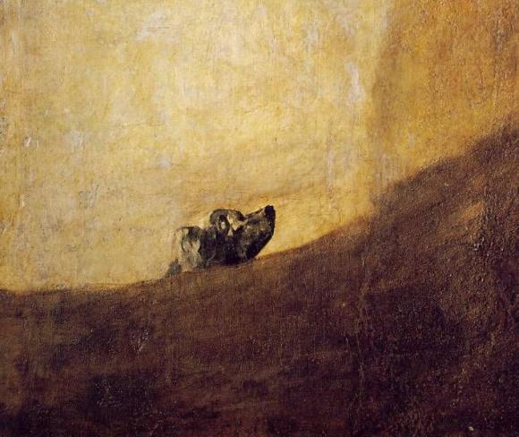 Francisco de Goya, El Perro (1820-1823)