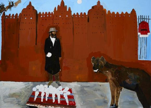 Henry Taylor, Hammons meets a hyena on holiday, 2016, Foto von Nasher