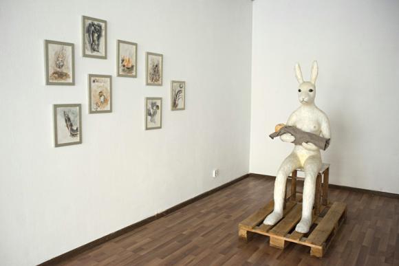 Installationsansicht Galerie Burger © Tanja Fender