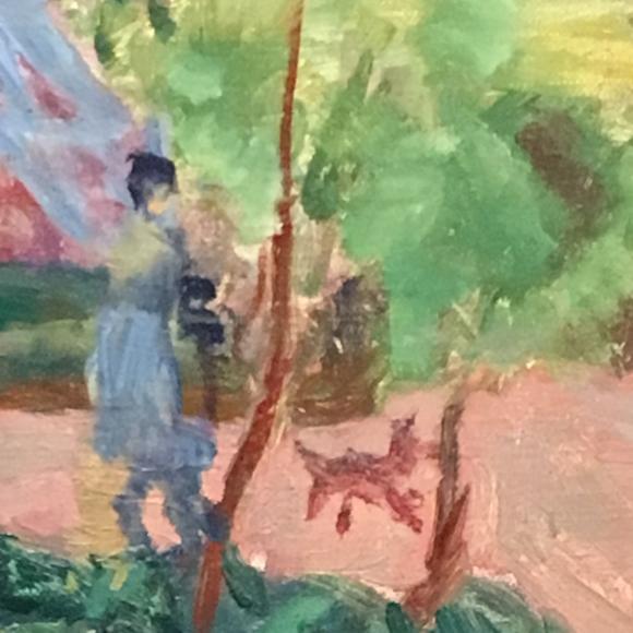 Pierre Bonnard, Haus unter Bäumen, 1918, Detail, Foto Petra Hartl