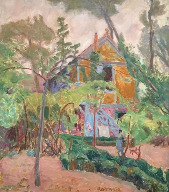 Pierre Bonnard, Haus unter Bäumen, 1918, Foto Petra Hartl