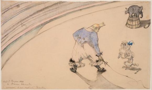 Henri Toulouse-Lautrec, Im Zirkus: Clown Footit - Dresseur, 1899, Statens Museum