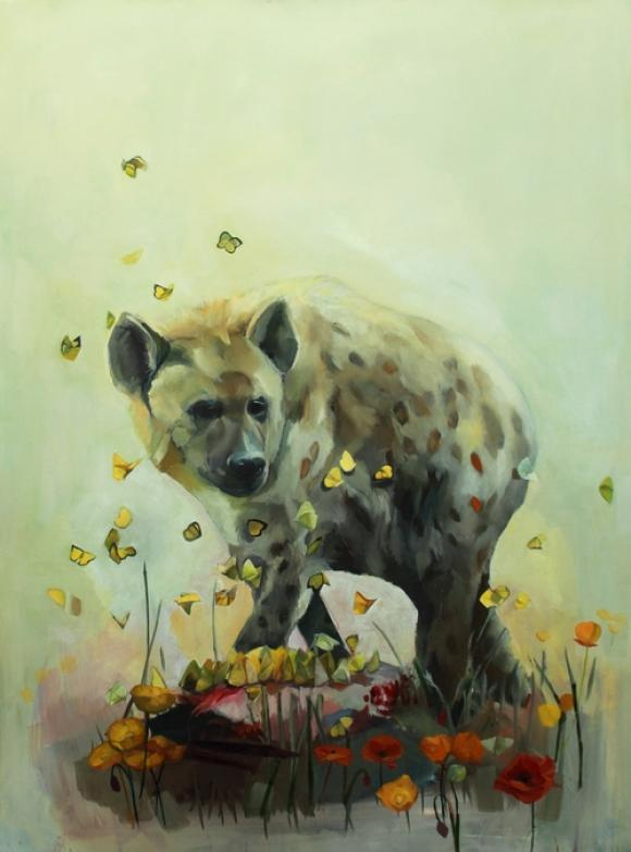 Coyote and Butterflies © Alexandra Loesser