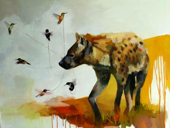 Hyena and Hummingbirds © Alexandra Loesser