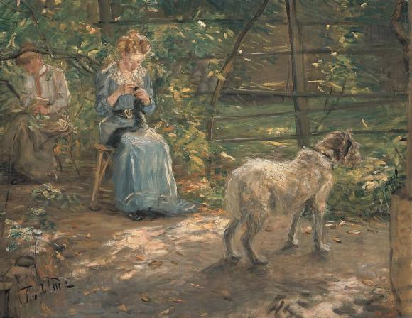 Fritz von Uhde, In der Herbstsonne, 1908 @ Sammlung Neue Pinakothek