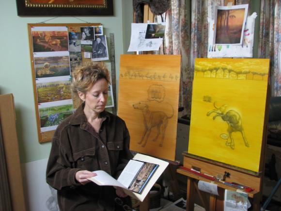 Jacqueline Welch in ihrem Atelier