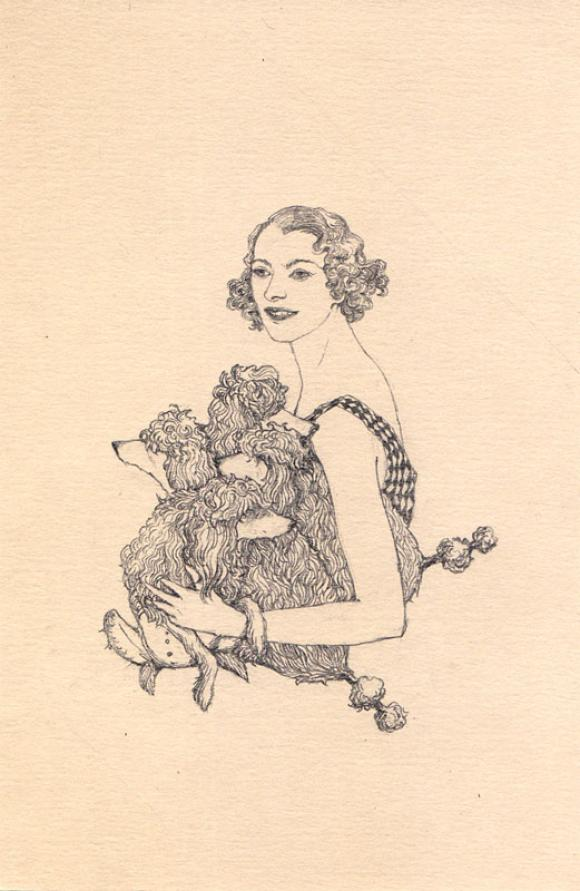 French Girl - French Poodles © Lauren Nassef