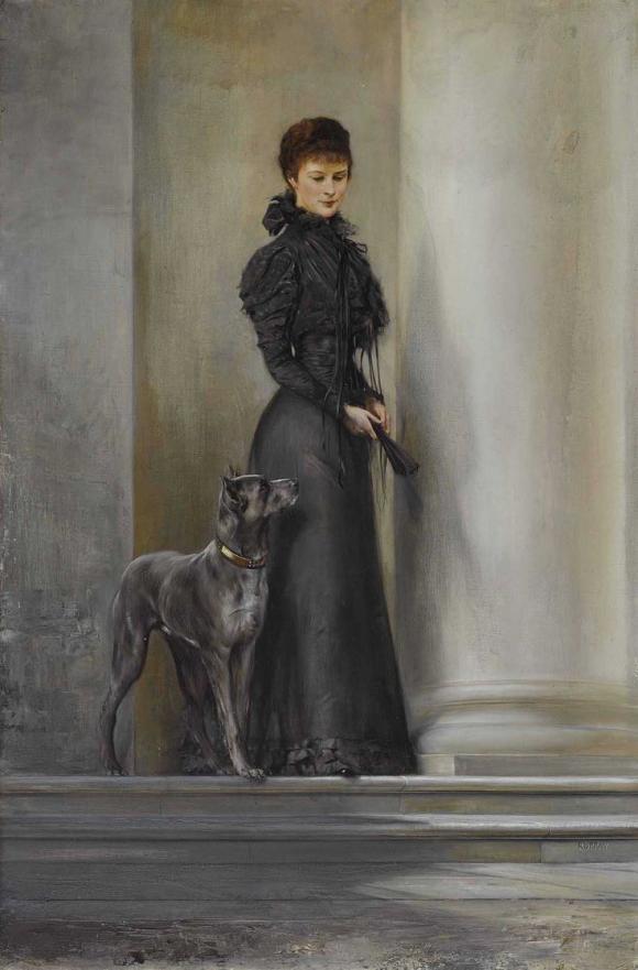 Kaiserin Elisabeth mit Dogge © Neumeister Auktionen, Foto Chr. Mitko