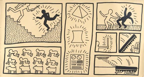 Keith Haring, Ohne Titel, 1980, Tinte auf Plakatkarton © The Keith Haring Founda