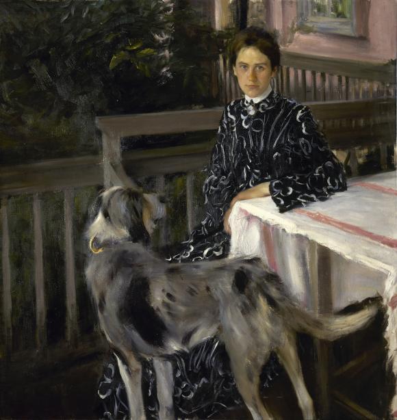 Boris M. Kustodijew, Porträt der Ehefrau des Künstlers, 1903 © Russisches Museum