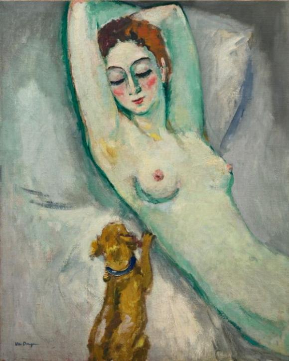 La dame au chien, um 1920 © Kees van Dongen
