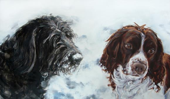 Justine Osborne, Hunde im Schnee
