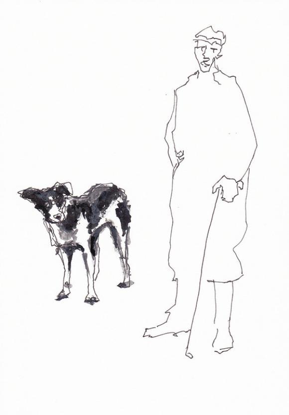 L'homme et le chien © Rodney van den Beemd