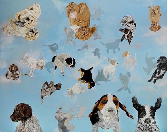 Lida Bräter, Es regnet junge Hunde I, 2004