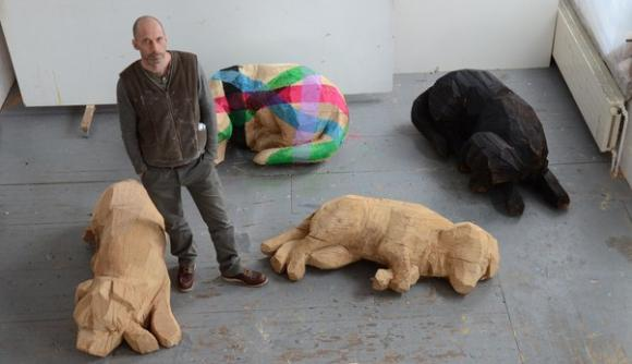 Atelieransicht, 2013, Foto: Limmattaler Zeitung