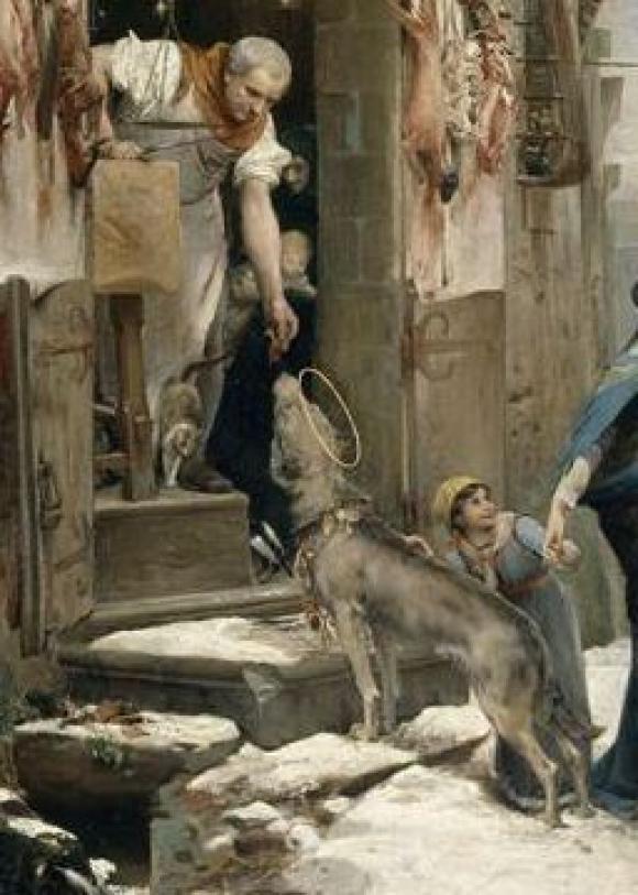 Luc-Olivier Merson_Der Wolf von Aggubio, 1877