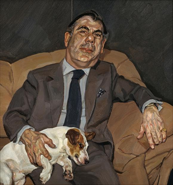 Lucian Freud, Guy and Speck, 1980-81. Privatsammlung Irland © The Lucian Freud A