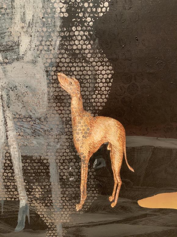 Jörg Immendorff, Malsand, 2006, Detail, Foto Petra Hartl