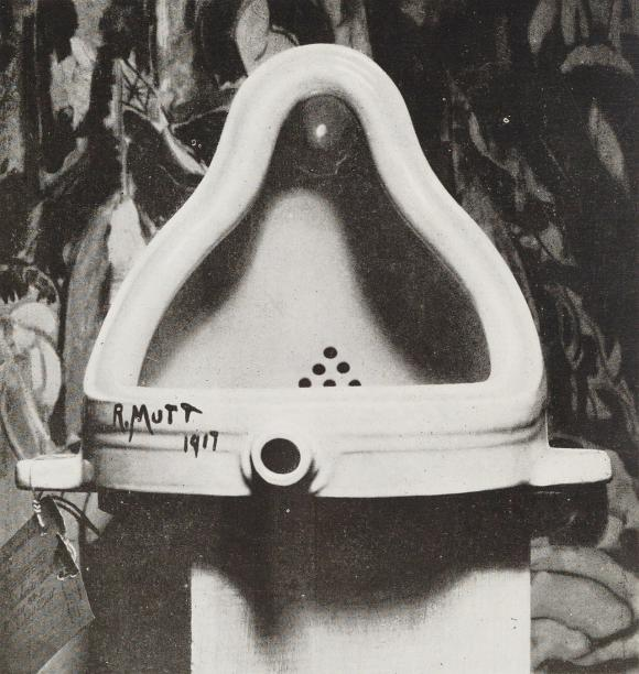 Marcel Duchamp, Fountain, 1917, Foto: Alfred Stieglitz