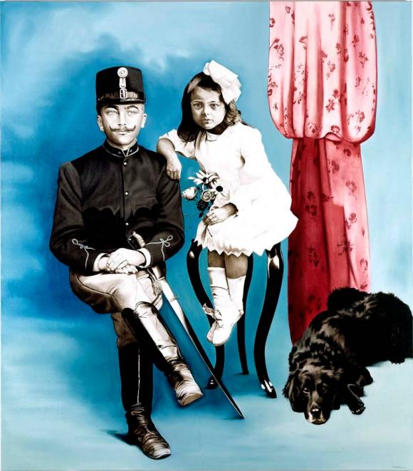 Marianna Gartner, Soldier with girl and dog, 2007