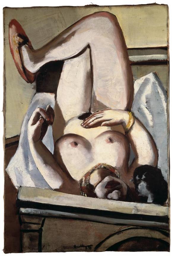Max Beckmann, Weiblicher Akt mit Hund, 1927