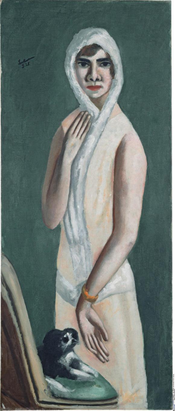 Max Beckmann, Bildnis Quappi, 1925