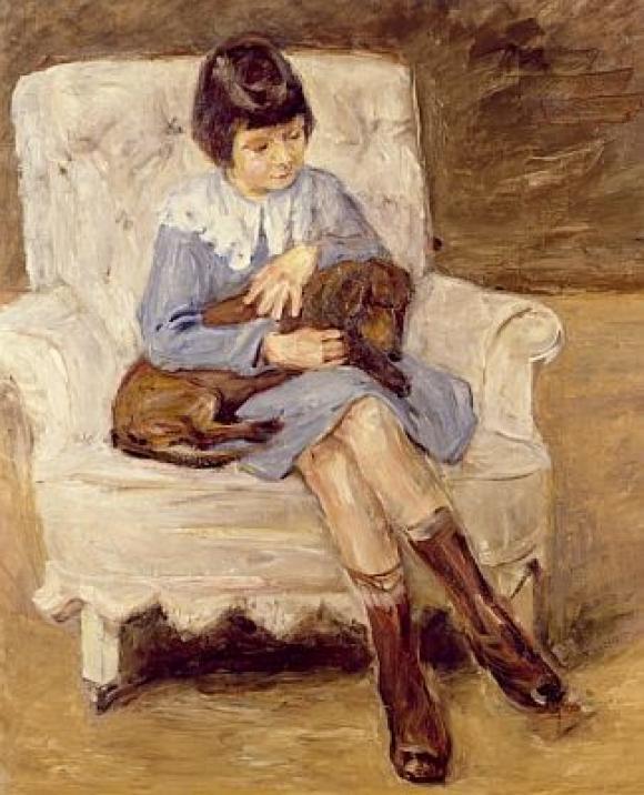 Max Liebermann, Enkelin des Künstlers, 1925