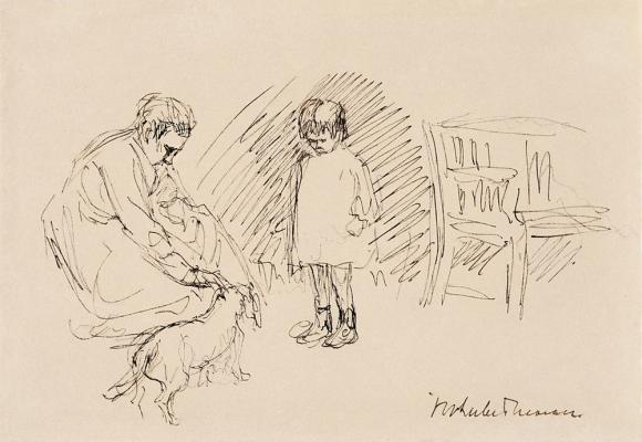 Max Liebermann, Spiel im Garten, um 1920