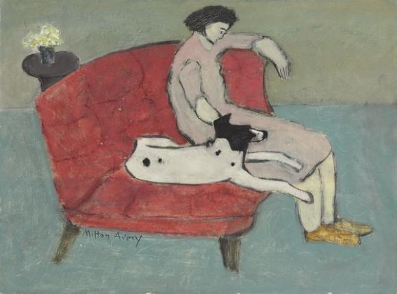 Milton Avery, Seated Woman With Dog, 1936