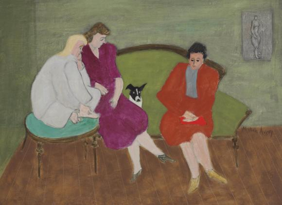 Milton Avery, Three Figures and a Dog
