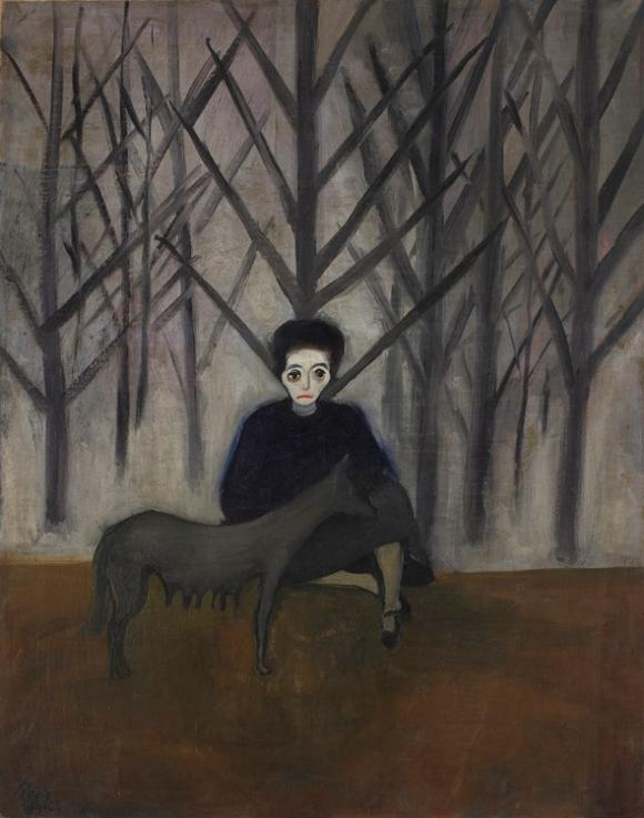 Alice Neel, Nadya and the Wolf, 1931, Courtesy the Artist's Estate and Victoria