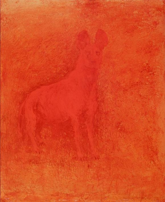 Nathan Oliveira, Red Dog, 2000