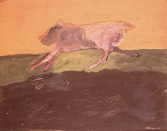 Nathan Oliveira, Running Dog, 1961