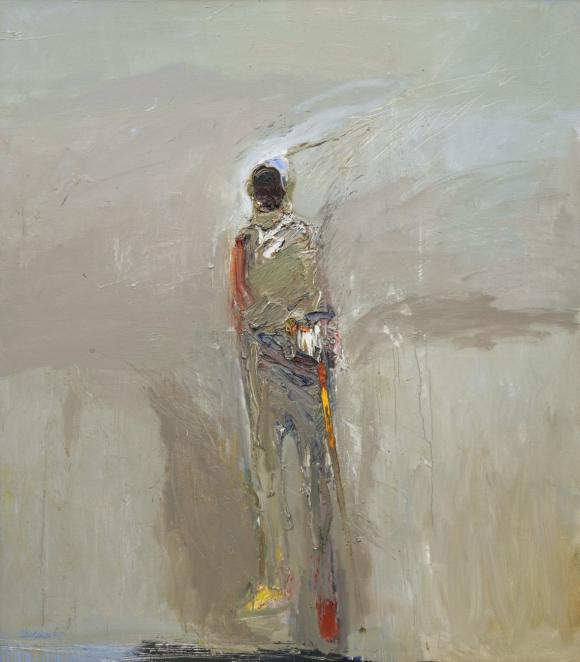 Nathan Oliveira, Standing Man with Stick, 1959