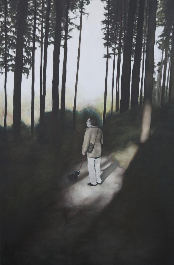 aus der Serie Nachts kommen die Füchse, Öl auf Leinwand, 120 x 80 cm, 2018 ©