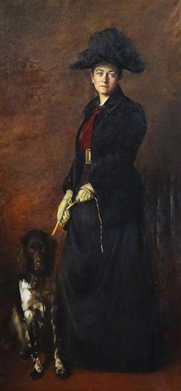 Ottilie W Roederstein, Jeanne Smith mit Hund, 1889