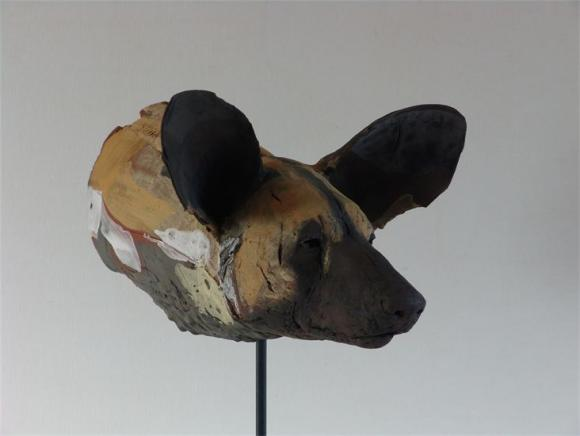 Paiinted Dog-head Study no.1, 2010 © Nicola Theakston