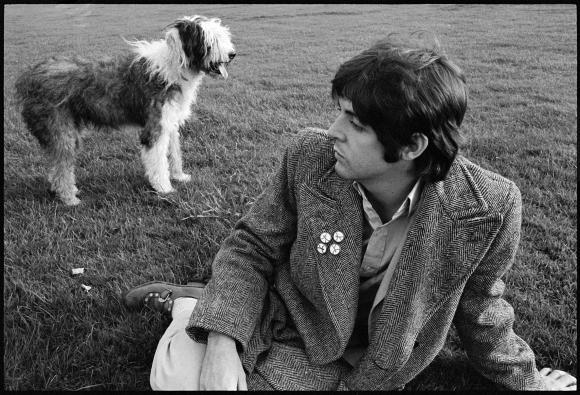 Paul and Martha, London ©1968 Paul McCartney, Photographer Linda McCartney
