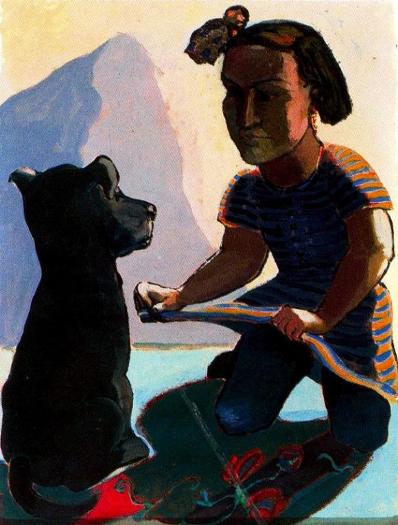 Dog and Girl - Serie @ Paula Rego