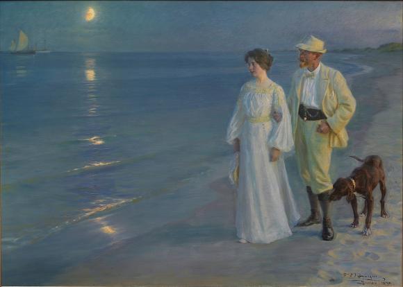 Peder Severin Krøyer, Sommerabend am Strand von Skagen, 1899