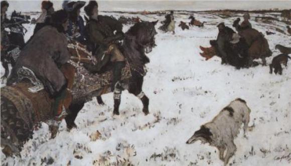 Valentin Serov, Peter I. auf der Jagd, 1902