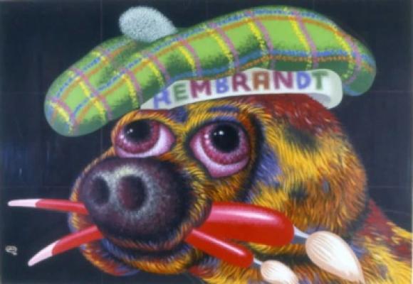 Peter Saul, Rembrandt Dog, 1988