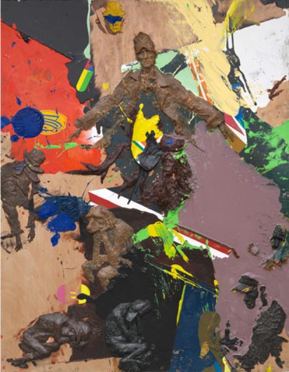 Peter Stauss, Johannes, 2009, Öl und Wachsrelief auf Sperrholz, Courtesy of Pet