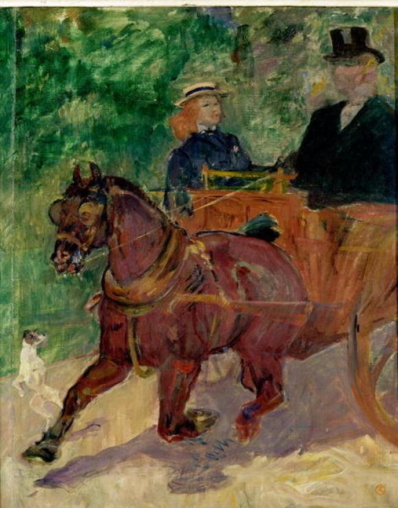Henri Toulouse-Lautrec, Pferdewagen, angespannt mit einem Cab, 1900, Musée Toulo